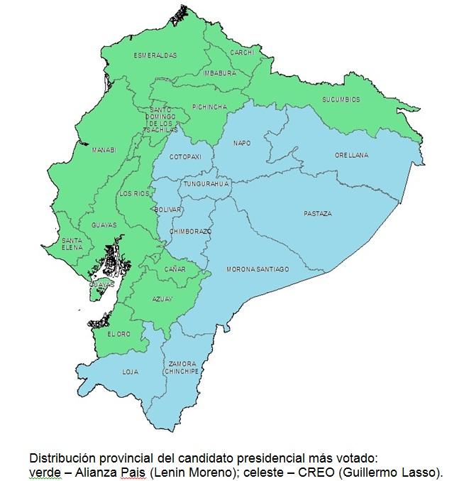 EleccionesEcuadorMapaFeb17